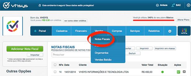 Notas Fiscais de Serviço de Brasilia
